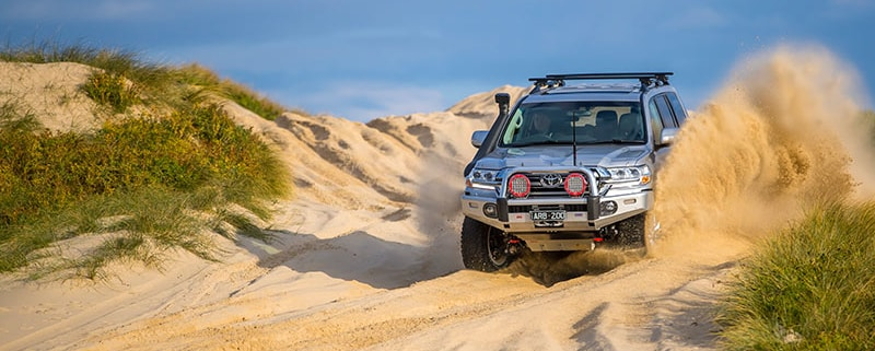4wd driving through sand- Offroad 4x4 accessories