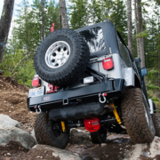 Back of jeep with 4x4 accessories installed- Offroad 4x4 accessories