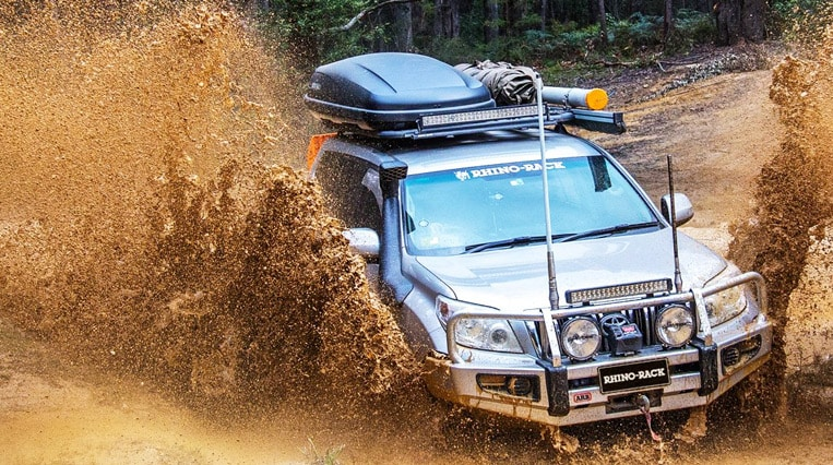 Rhino Roof Racks in use- Offroad 4x4 accessories Bathurst
